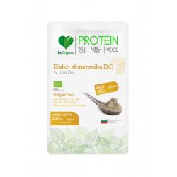 Białko Słonecznika Bio 44% Protein Proszek 200 g BeOrganic