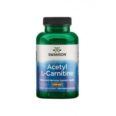 L-Karnityna Acetyl L-Carnitine 500 mg (100 kaps) Metabolizm Swanson