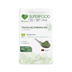 Trawa Jęczmienna Bio SuperFood Proszek 200 g BeOrganic