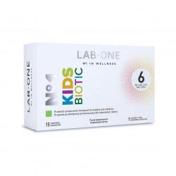 Nr 1 KidsBiotic 6 mld 3 Szczepy Probiotyki dla Dzieci (15 sasz) Lab One