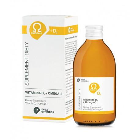Witamina D3 + Kwasy Omega-3-6-7-9 NNKT MCT 300 ml Invex Remedies