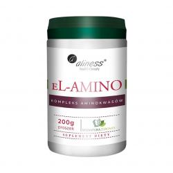 el-AMINO Kompleks Aminokwasów Bezsmakowy Vege Proszek 200 g SygnaturaZdrowia Aliness