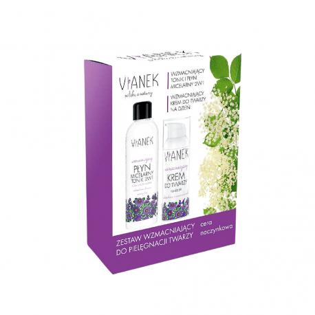 Zestaw Kosmetyków Wzmacniający (Płyn Micelarny Tonik 2w1 200 ml + Krem do Twarzy na Dzień 50 ml) Vianek