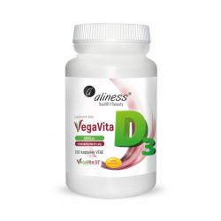 Naturalna Witamina D3 Vegan 2000 IU Wegańska z Alg VegaVita (120 kaps) Aliness