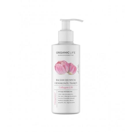 Collagen Lift Balsam Do Mycia i Demakijażu Twarzy Kwiat Lotosu 200 g Organic Life