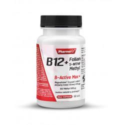 Witamina B12 + Folian 5 MTHF Methyl Metylokobalamina 500 mcg (60 kaps) Pharmovit