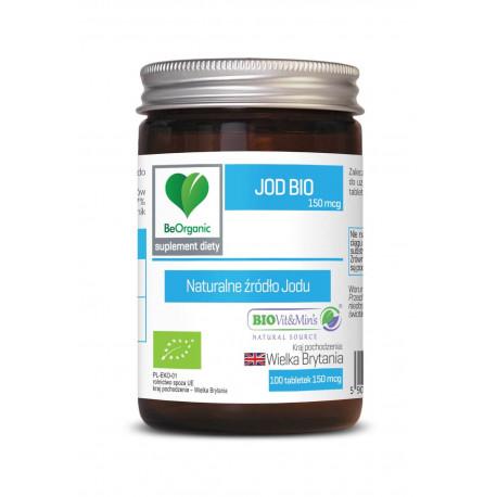 Jod Bio 150 mcg Naturalne źródło Jodu (100 tab) BeOrganic