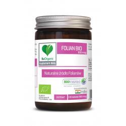 Folian Bio 600 mcg Naturalne źródło Folianów (100 tab) BeOrganic