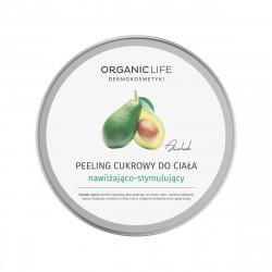 Peeling Cukrowy do Ciała 150 g Nawilżająco-Stymulujący Awokado Organic Life