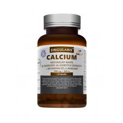 Calcium + Witamina D3 Naturalny Wapń ze Skorupek Jaj Kurzych Ovocet (120 kaps) SINGULARIS