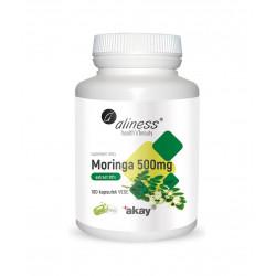 Moringa Olejodajna 500 mg Ekstrakt 20% (100 kaps) VEGE Aliness