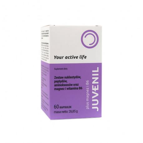 Juvenil Plus Magnez + Witamina B6 Płyn 100 ml - Zestaw Nukleotydów Peptydów Aminokwasów