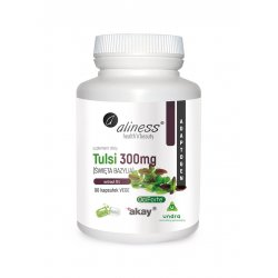 Tulsi Święta Bazylia 300 mg Ekstrakt 5% (90 kaps) VEGE Undra Aliness