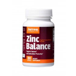 Zinc Balance Cynk 15 mg + Miedź 1 mg (100 kaps) Jarrow Formulas