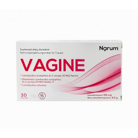 Vagine 150 mg (30 kaps) Probiotyk Metabiotyk dla Kobiet Narine Narum