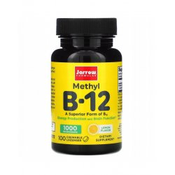 Witamina B-12 Methyl 1000 mcg (100 tab do ssania) Metylokobalamina Jarrow Formulas