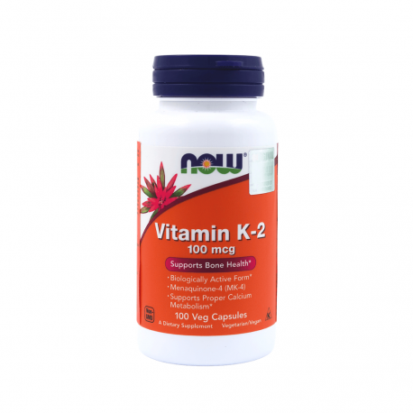 Witamina K2 MK-4 100 µg (100 kaps) Now Foods