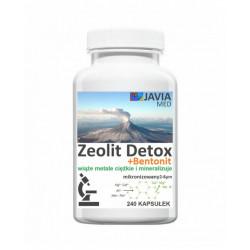 Zeolit Detox + Bentonit (240 kaps) Aktywny Mikronizowany Klinoptylolit Najdrobniejszy 2-6μm