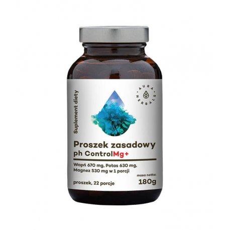 Proszek Zasadowy pH Control Mg+ (180 g) Wapń Potas Magnez Aura Herbals