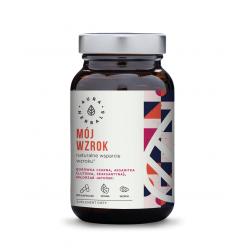 Mój Wzrok - Naturalna Luteina i Zeaksantyna - Wsparcie Wzroku (60 kaps) VEGE Aura Herbals