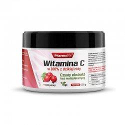 Witamina C w 100% z Dzikiej Róży - Ekstrakt Proszek 100 g Pharmovit