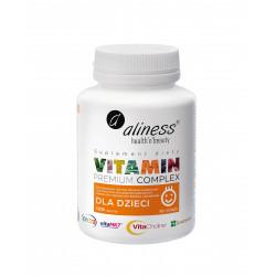 Dla Dzieci Premium Vitamin Complex Witaminy i Minerały Vege Do Ssania (120 tab) Aliness