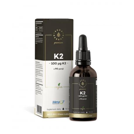Witamina K2 PREMIUM 100 mcg Krople 50 ml Vegan Aura Herbals