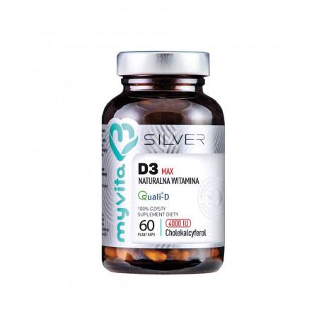 Witamina D3 MAX 4000 IU (60 kaps) Naturalna Silver Myvita