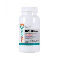 Witamina K2 + D3 Forte 100 mcg + 4000 IU (120 tab) Myvita