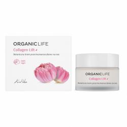 Collagen Lift Botaniczny Przeciwzmarszczkowy Krem na Noc Kwiat Lotosu 50 g Organic Life