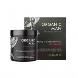 Organic Man Peeling ze Skałką Wulkaniczną REGENERATE 100 g dla Mężczyzn Organic Life