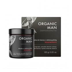 Organic Man Maska do Twarzy z Zieloną Glinką REGENERATE 100 g dla Mężczyzn Organic Life