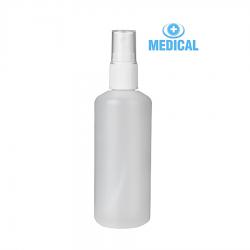 Butelka Plastikowa z Atomizerem Biała 100 ml