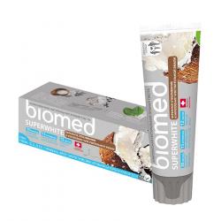 Superwhite Naturalna Pasta Wybielająca do Zębów z Olejem Kokosowym 100 g Biomed