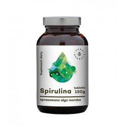 Spirulina Maxima Sprasowana Alga Morska (600 tab / 150 g) Aura Herbals