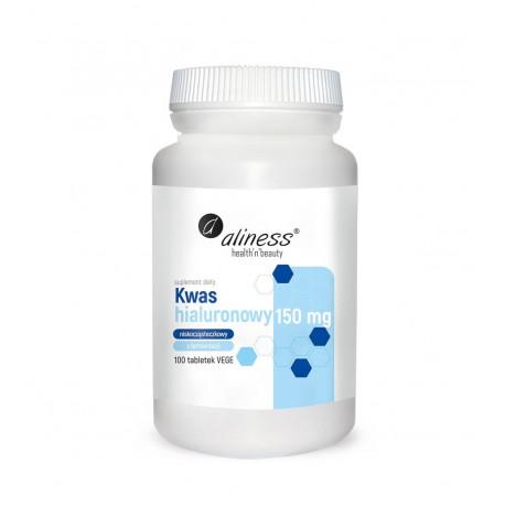 Kwas Hialuronowy Niskocząsteczkowy Naturalny 150 mg (100 tab) Aliness