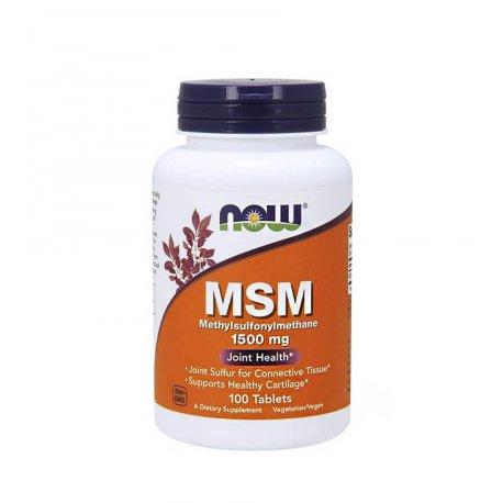 MSM Siarka Organiczna 1500 mg (100 tab) Now Foods