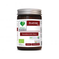 Żelazo BIO 10 mg Naturalne źródło Żelaza (50 tab) BeOrganic