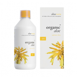 Sok i miąższ a liści Aloesu Aloe Vera + Aronia + Granat 500 ml 01 Organic Life
