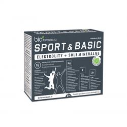 Elektrolity + Sole Mineralne Sport & Basics Acerola Sód Magnez Potas Cynk (14 saszetek) Biofarmacja