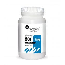 Bor 3 mg Kwas Borowy (100 tab) Aliness