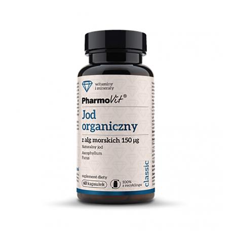 Jod Organiczny z Alg Morskich 150 mg (60 kaps) Morszczyn Kelp Pęcherzykowaty Pharmovit