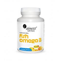 Fish Omega 3 Kwasy EPA 180 mg i DHA 120 mg (90 kaps) Aliness