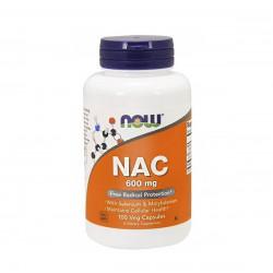 NAC N-acetyl Cysteina 600 mg + Selen + Molibden (100 kaps) Now Foods