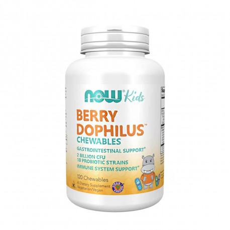 BerryDophilus Kids 2 mld 10 Szczepów Probiotyk dla Dzieci (120 tab. do ssania) Now Foods