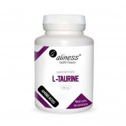 L-Taurine L-tauryna Aminokwasy 800 mg (100 kaps) Aliness