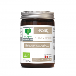 Maca BIO Ekstrakt 500 mg Energia i Witalność (100 tab) BeOrganic