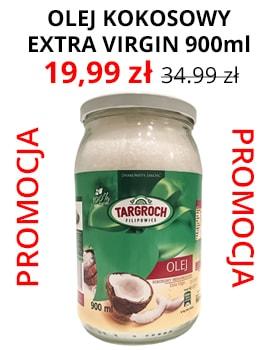 Olej kokosowy extra virgin nierafinowany 900ml