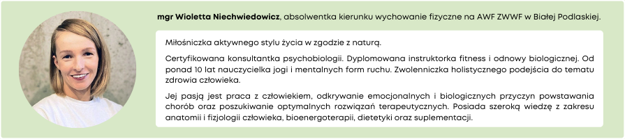 Autor mgr Wioletta Niechwiedowicz