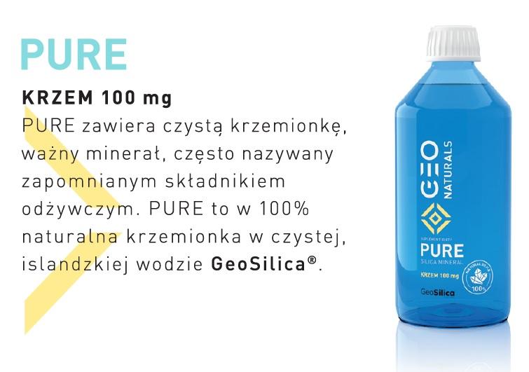 PURE Krzem 100 mg GeoNaturals